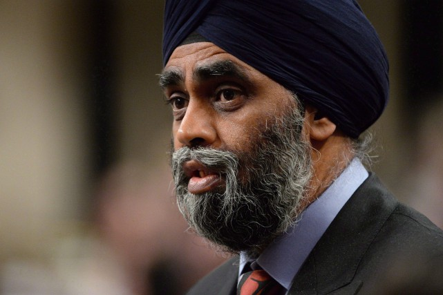 Le ministre canadien de la Défense, Harjit Sajjan... (PHOTO ARCHIVES LA PRESSE CANADIENNE)