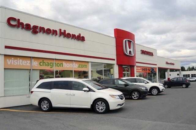 Les locaux actuels de Chagnon Honda, rue Principale.... (Christophe Boisseau-Dion)