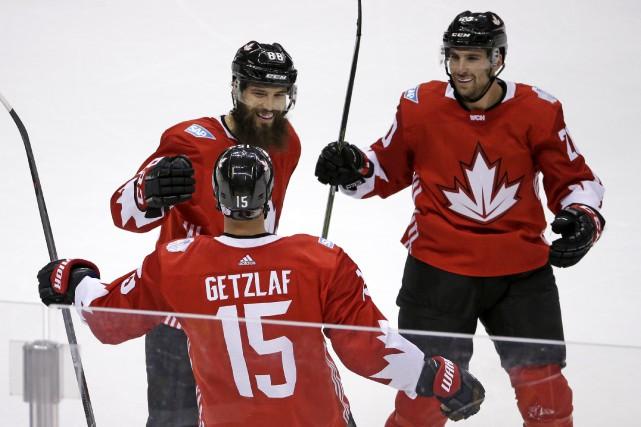 Ryan Getzlaf a donné la victoire au Canada... (AP, Gene J. Puskar)