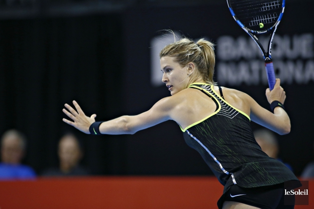 Eugenie Bouchard a remporté son premier match à la Coupe... (Photo Pascal Ratthé, Le Soleil)