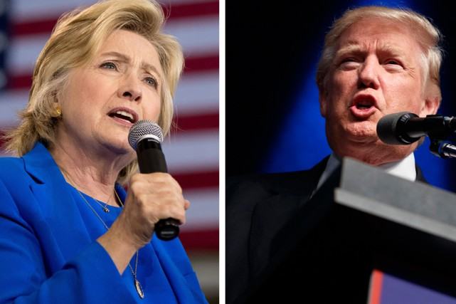 La démocrate Hillary Clinton et le républicain Donald... (photos archives ap)