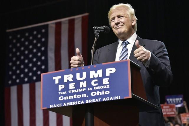 Le candidat républicain à la présidentielle américaine Donald... (photo MANDEL NGAN, AFP)