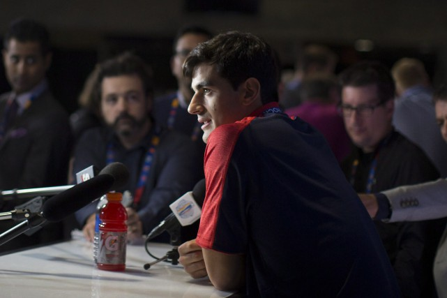 Max Pacioretty a participé au rendez-vous médiatique lançant la... (Photo Chris Young, PC)