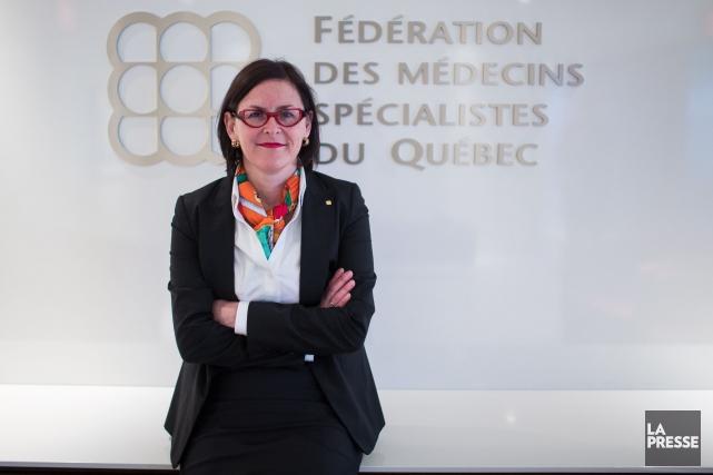 Dre Diane Francoeur, présidente de la FMSQ.... (Archives La Presse)