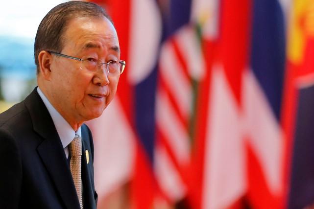 Le secrétaire général des Nations unies, Ban Ki-moon... (Photo Soe Zeya Tun, Reuters)