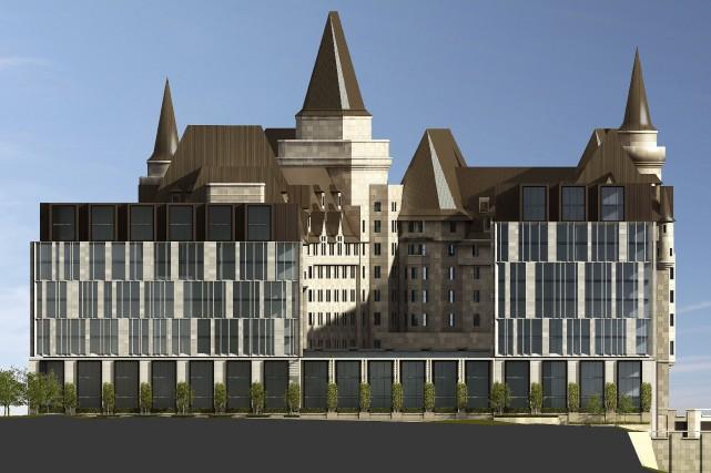L'annexe au Château Laurier proposé par ses propriétaires... (Courtoisie)