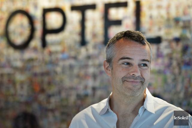 Le président du Groupe Optel, Louis Roy, se... (Photothèque Le Soleil, Yan Doublet)