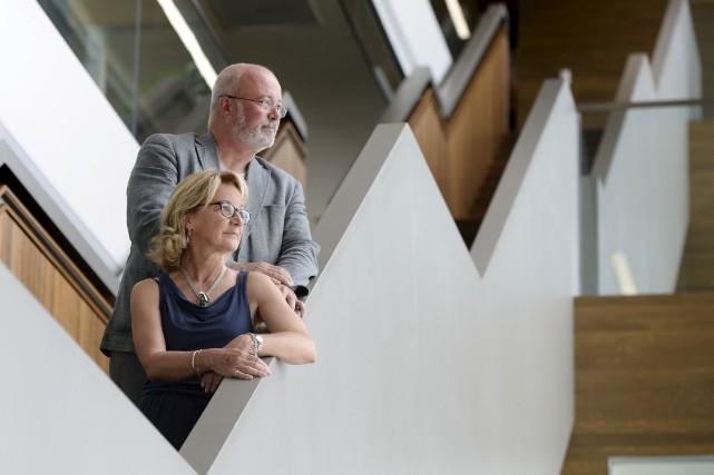 Anne Carrier et son conjoint Robert Boily... (Le Soleil, Yan Doublet)