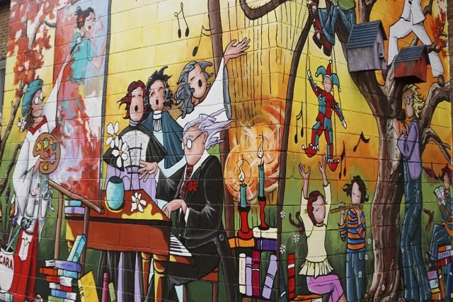 Une nouvelle murale a été réalisée au Centre... (Photo fournie)