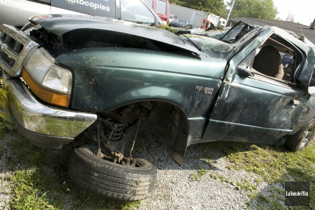 Le camion conduit par l'accusé avait fait plusieurs... (Archives La Voix de l'Est)