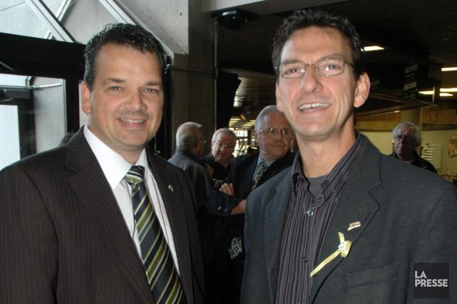 Fabien Hovington et Bernard Noël ont été rencontrés... (Archives La Presse)