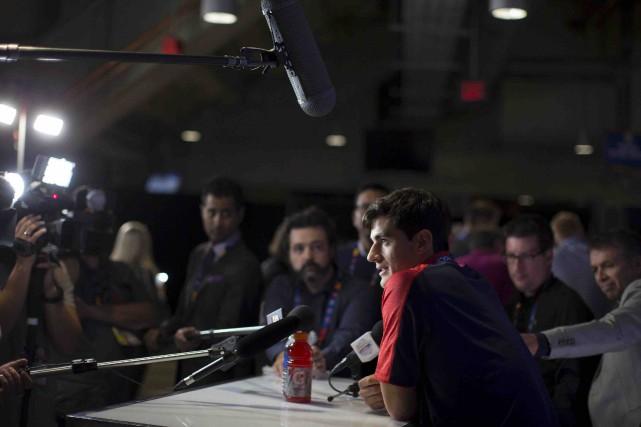 Max Pacioretty a rencontré la presse à Toronto... (La Presse canadienne, Chris Young)