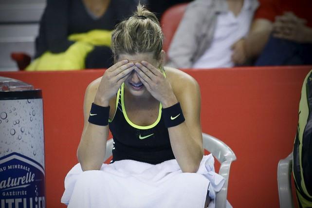 Eugenie Bouchard a amorcé le match avec aplomb,... (Le Soleil, Pascal Ratthé)