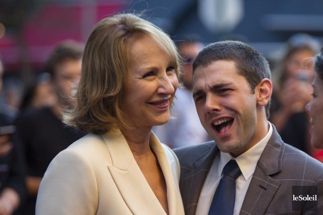 Nathalie Baye et Xavier Dolan àla première dufilm,... (Photothèque Le Soleil)