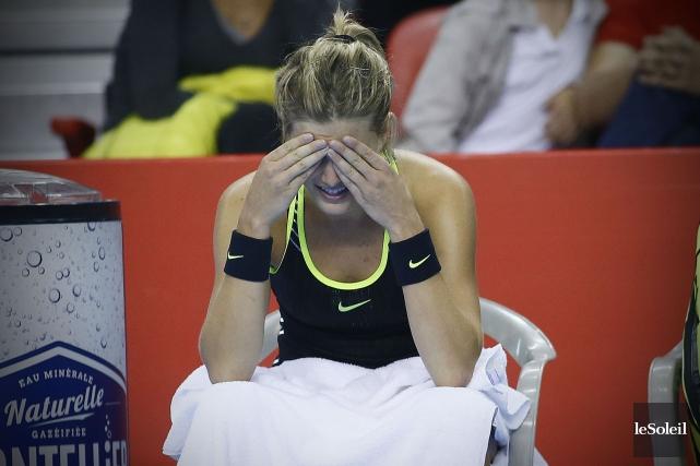Première favorite du tournoi, Eugenie Bouchard a été... (Photo Pascal Ratthé, Le Soleil)