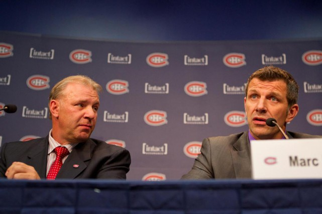 Michel Therrien et Marc Bergevin ont manqué de... (Photo Ivanoh Demers, Archives La Presse)