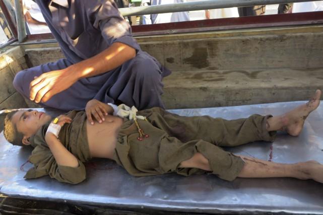 Il y a eu aussi beaucoup de blessés.... (AFP, Hasban Ullah)