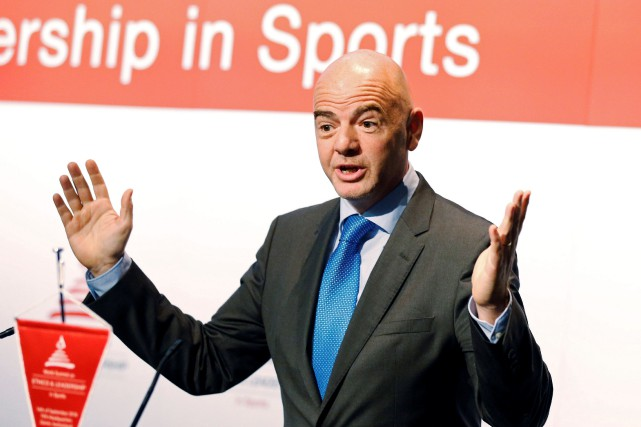 Le président de la FIFA, Gianni Infantino.... (Photo Ruben Sprich, archives REUTERS)