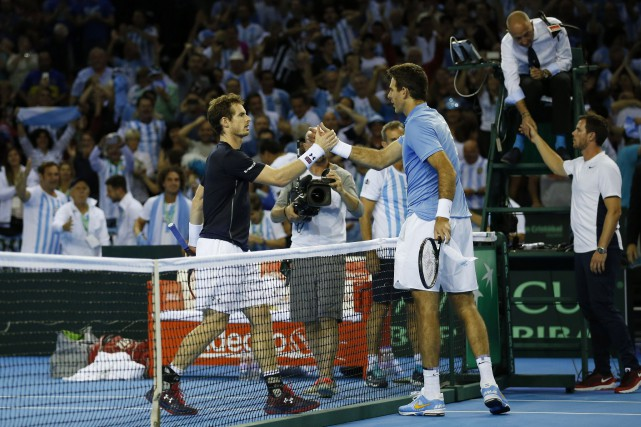 Andy Murray et Juan Martin del Potro... (Photo Andrew Boyers, REUTERS)