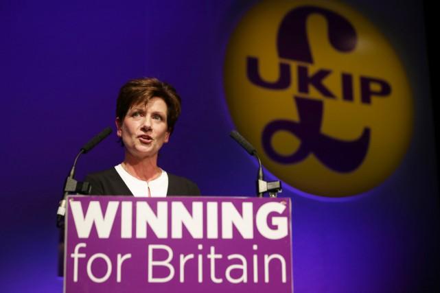 Diane James,députée européenne de 56 ans quasiment inconnue... (photo Daniel Leal-Olivas, AFP)