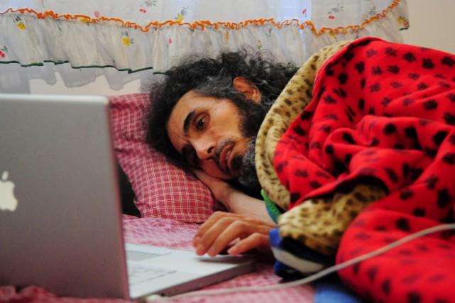 Jihab Diyab a commencé fin août une grève... (photo Dante FERNANDEZ, archives AFP)