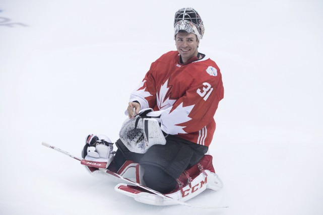 Carey Price à l'entraînement d'Équipe Canada, vendredi.... (Photo Chris Young, PC)