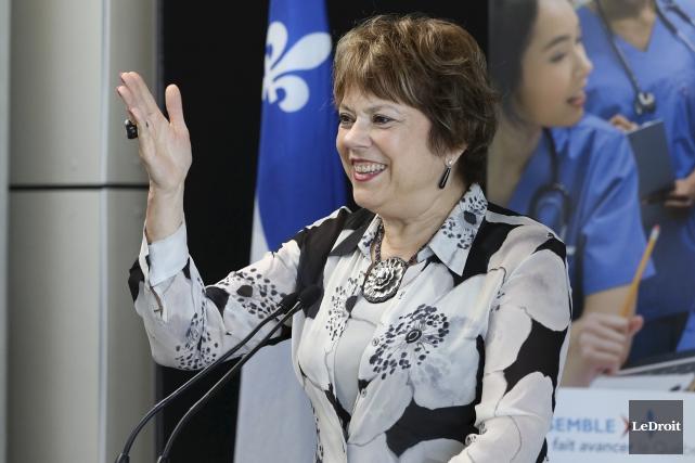 La ministre responsable de l'Enseignement supérieur, Hélène David,a... (Le Droit)