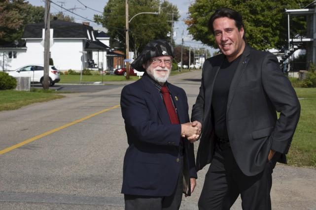 Le maire de Saint-Justin Jean-Claude Gauthier et le... (François Gervais)