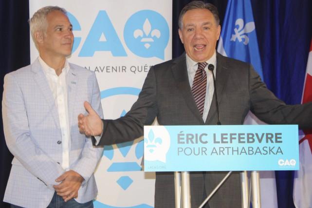 Le chef de la Coalition avenir Québec, François... (La Tribune, Yanick Poisson)