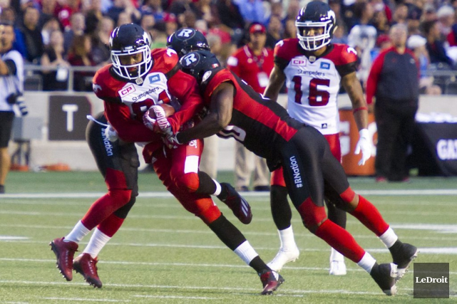 Le Rouge et Noir d'Ottawa et les Stampeders... (Martin Roy, LeDroit)