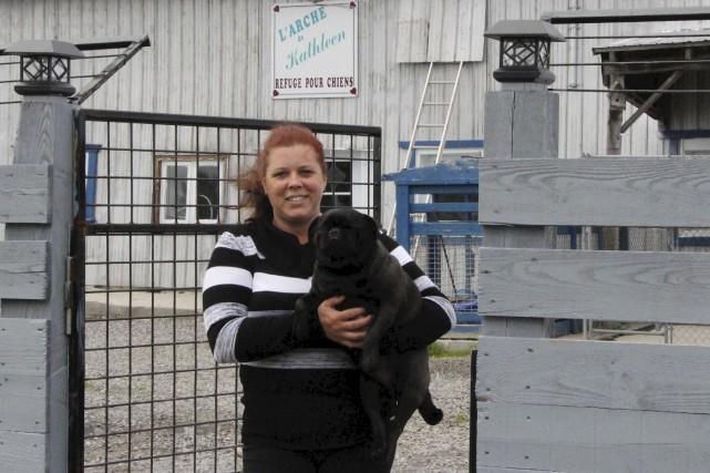 Il arrive que Kathleen Marcotte adopte un chien,... (Isabelle Légaré)