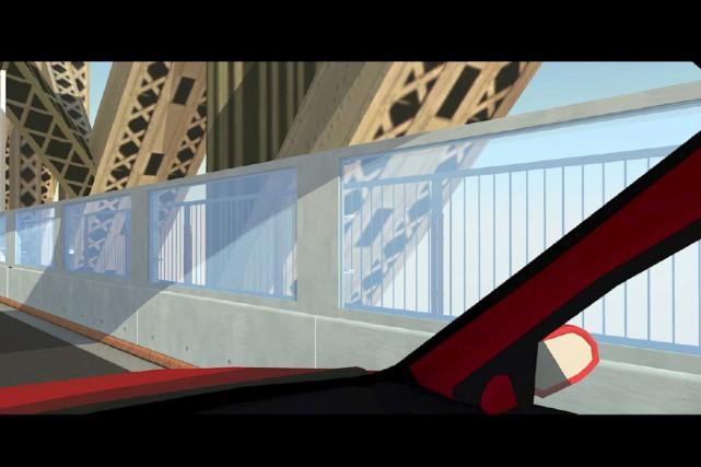 Des panneaux transparents protégeront la structure du pont... (Illustration Option aménagement)