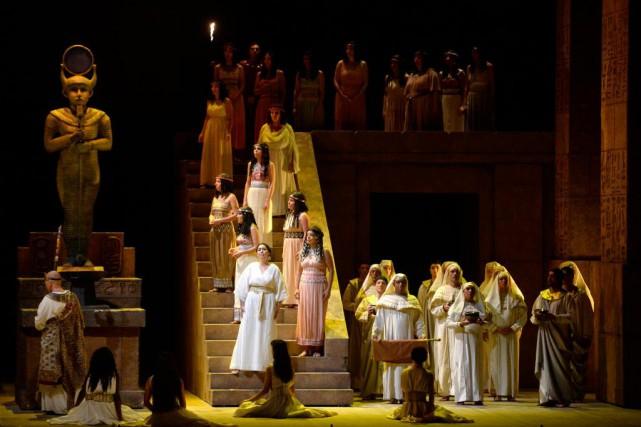 Pour sa mise en scène de l'opéraAida, François... (Photo Bernard Brault, La Presse)