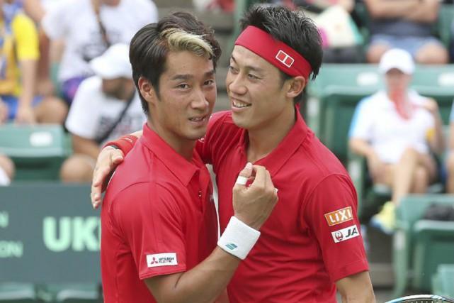 Yuichi Sugita etKei Nishikori... (PHOTO AFP)