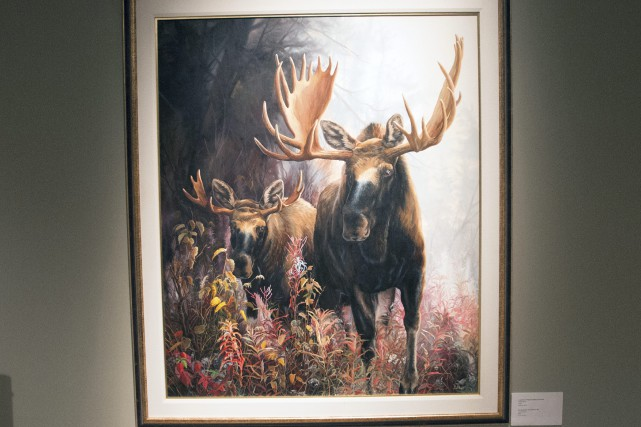 Le Parrain est une huile sur toile peinte... (Photo Le Progrès-Dimanche, Michel Tremblay)