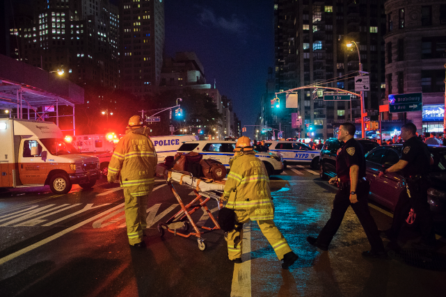 L'explosion a eu lieu vers 20h30 sur la... (AP, Andres Kudacki)
