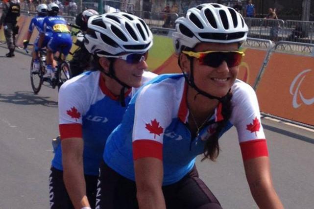 L'Ontarienne Robbi Weldon et l'Almatoise Audrey Lemieux ont... (Photo courtoisie)