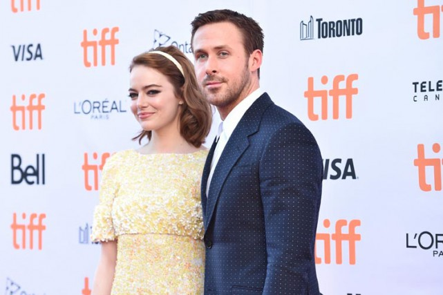 Emma Stone et Ryan Gosling, vedettes de La... (PHOTO AFP)