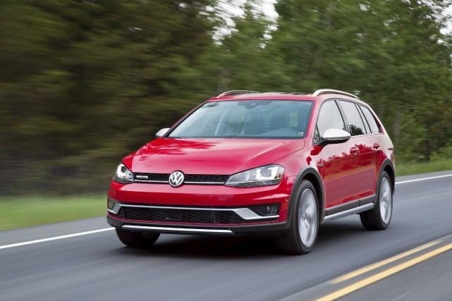 Pour marquer son territoire, la Golf Alltrack se... (fournie par Volkswagen)