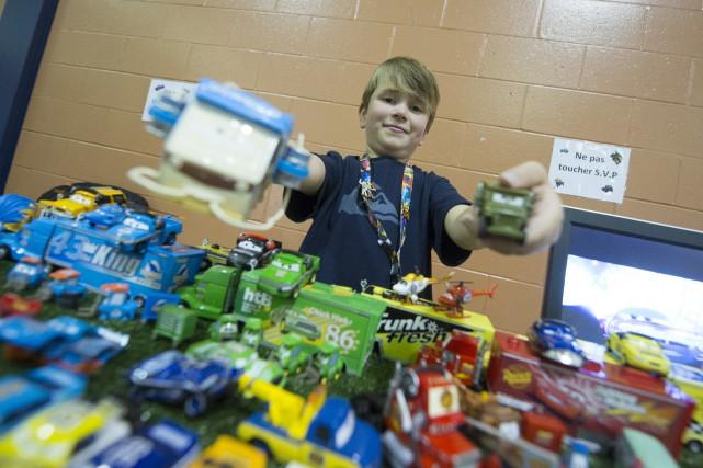 Caleb Lavoie, sept ans, est un fanatique des... (Spectre média, Julien Chamberland)