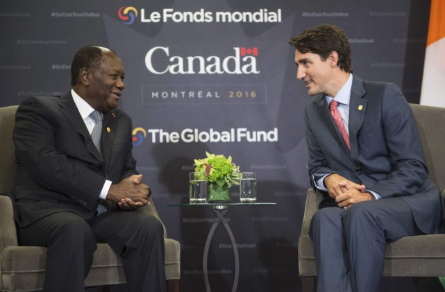 La présence du président de la Côte d'Ivoire,... (Paul Chiasson, La Presse canadienne)
