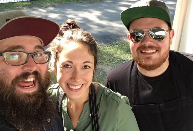 Les chefs Mathieu Cayer-Brunet, Suzy Rainville et Kevin... (Tirée de Facebook)