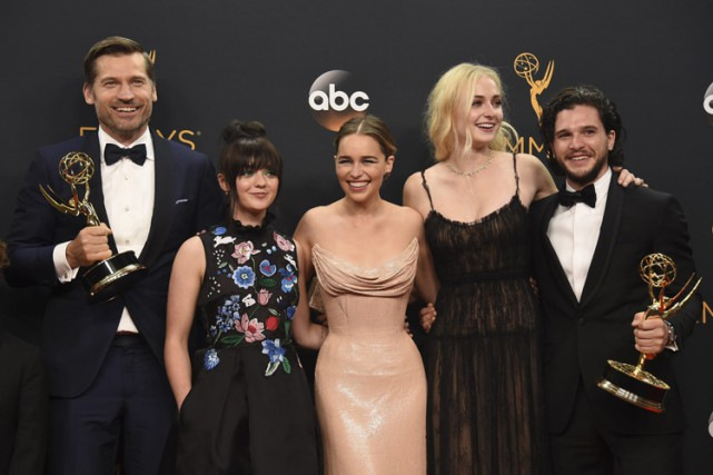 Les acteurs de Game of Thrones, de gauche à... (PHOTO AP)