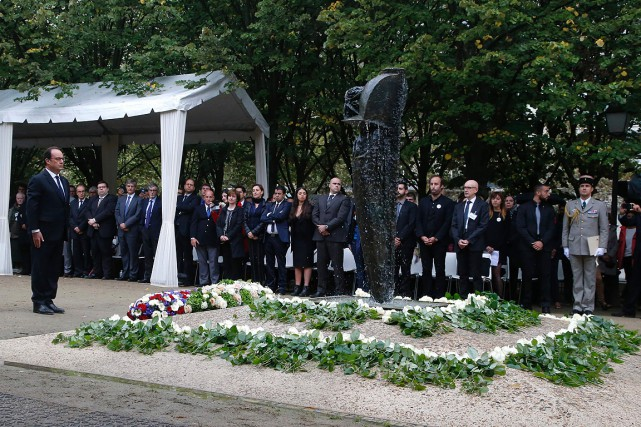 L'hommage solennel pour les Français morts dans des... (Photo Michel Euler, AFP)