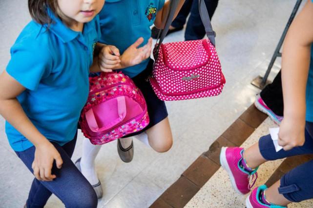 Comme dans toutes les écoles primaires,lesnoix et lesarachides... (Photo Alain Roberge, La Presse)