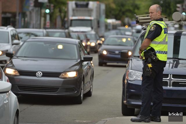 La police de Québec a mené lundi matin... (Le Soleil, Patrice Laroche)