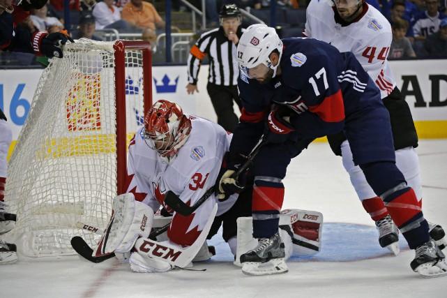 Carey Price (31) arrête le tir de Ryan... (Photo Kyle Robertson, archives The Columbus Dispatch via AP)