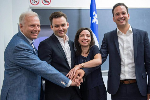 Les candidats à la direction du Parti québécois... (PHOTO PAUL CHIASSON, LA PRESSE CANADIENNE)