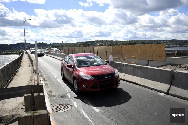 La circulation sera réduite ce soir sur le... (Photo Le Quotidien, Marianne L. St-Gelais)