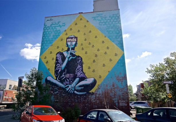 2015 : murale située au 5850, avenue Papineau,... (Photo André Pichette, La Presse)